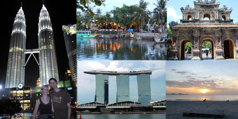 Vietnam, Malaysia, Singapur