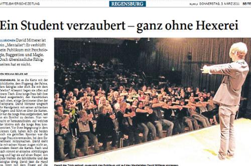 Interview in der MZ Regensburg
