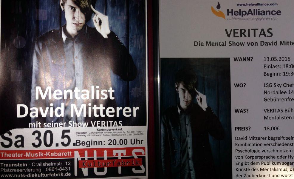 Mentalist und Zauberer David Mitterer live in München und Traunstein